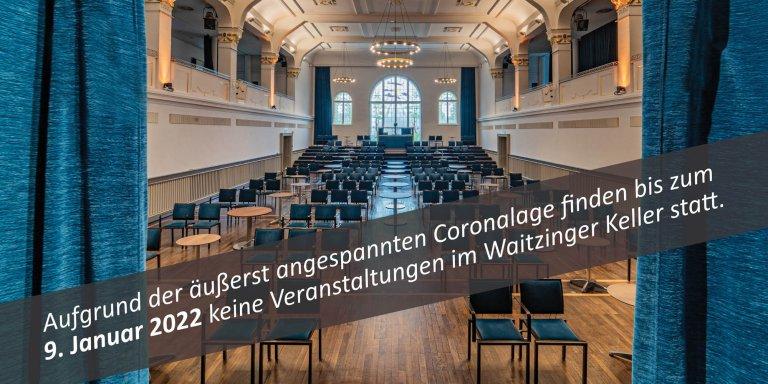 Waitzinger Keller_Saal_Titel_Homepage_Öffnungszeiten